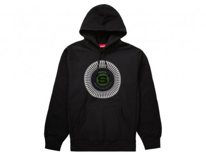 Supreme Chenille Applique Hooded Sweatshirt Black