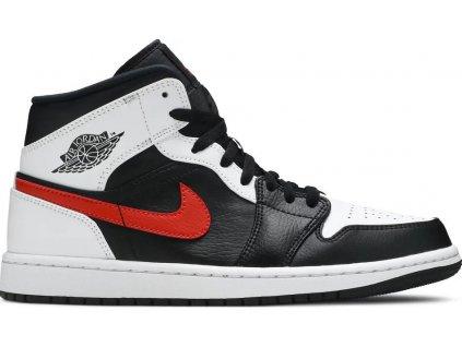 Jordan 1 Mid Black Chile Red White (Velikost 40)