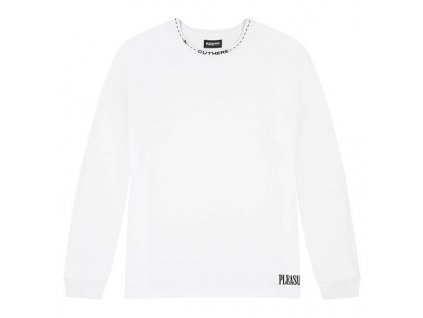 Pleasures CUT HERE HEAVYWEIGHT LONGSLEEVE White 1