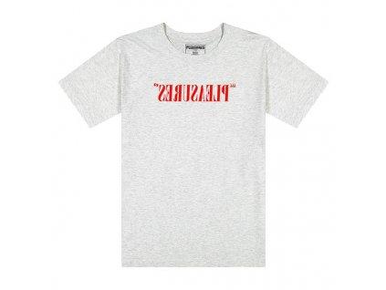 Pleasures Flipped Logo T Shirt ash 1