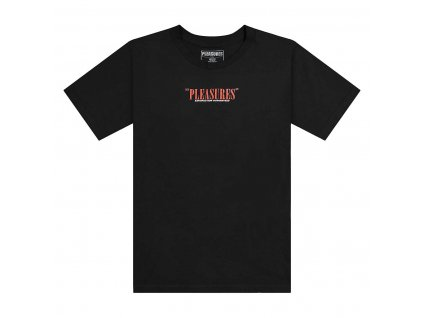 Pleasures SATISFACTION GUARANTEED T Shirt Black 1