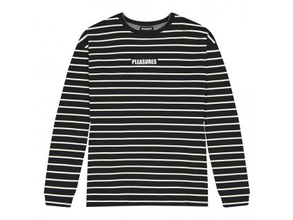 Pleasures Vortex Striped Longsleeve Black 1