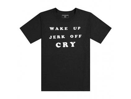 Pleasures WAKE UP T SHIRT Black 1