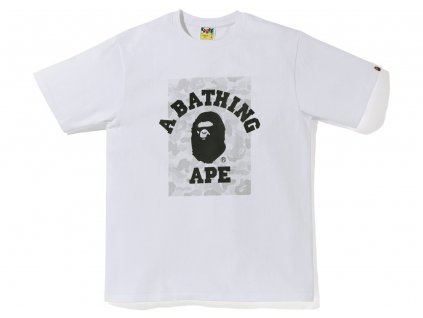 BAPE ABC Dot Reflective On College Tee White 1