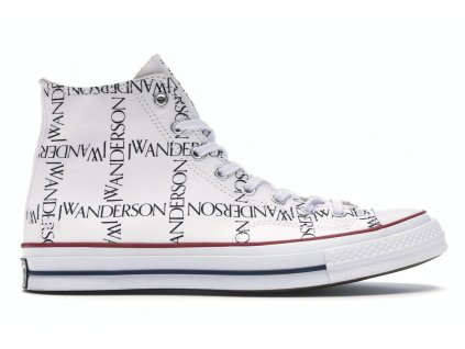 Converse Chuck Taylor All-Star 70s Hi Grid JW Anderson White (Velikost 46)
