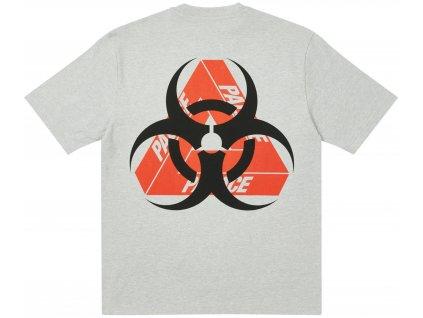 Palace Bio Hazard T Shirt Grey Marl result