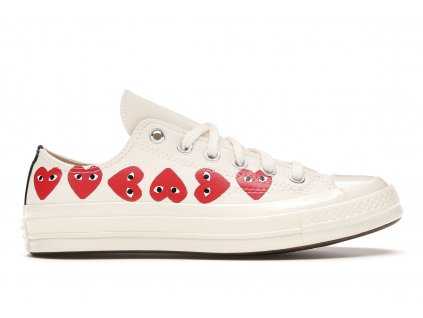 Converse Chuck Taylor All-Star 70s Low x Comme des Garcons Play Multi-Heart White