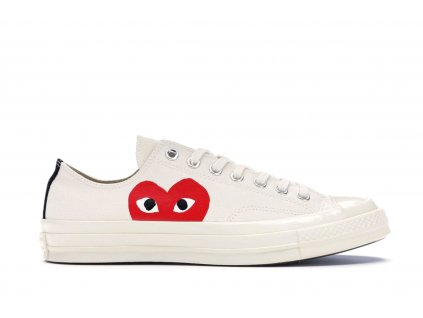 Converse Chuck Taylor All-Star 70s Low x Comme des Garcons PLAY White
