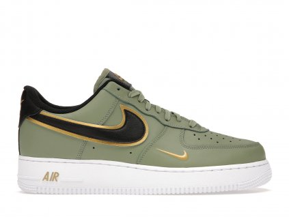Air Force 1 Low 07 LV8 Double Swoosh Olive Gold Black