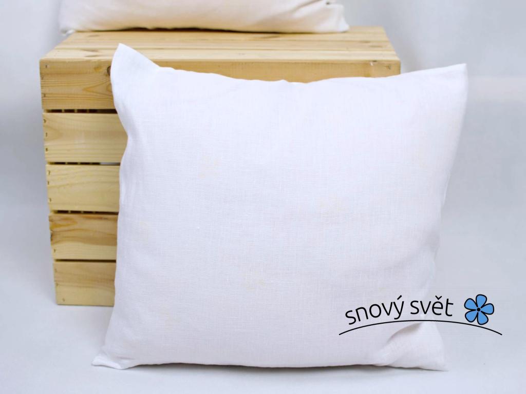 Pohankový polštář bílý 40x40 - PPS005