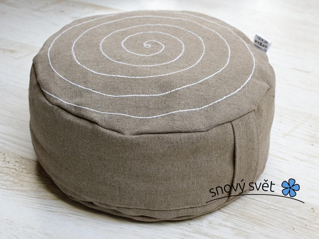 Meditační pohankový sedák Spirála 14 cm - PP0014