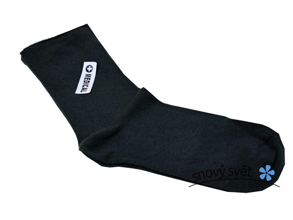 Lněné ponožky zdravotní grafit - LP0013_03