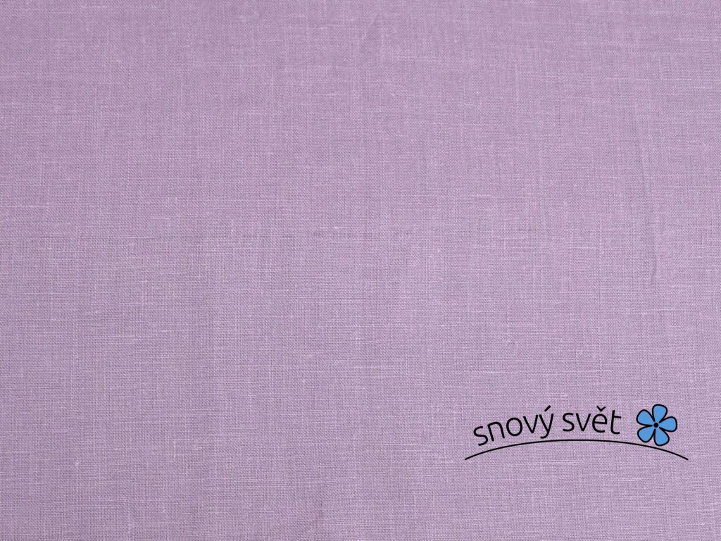 Lněná látka fialová lila měkčená - BLX029