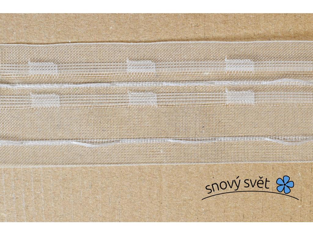 Záclonovka - tužkové řasení, transparentní, 50 mm - VT0002