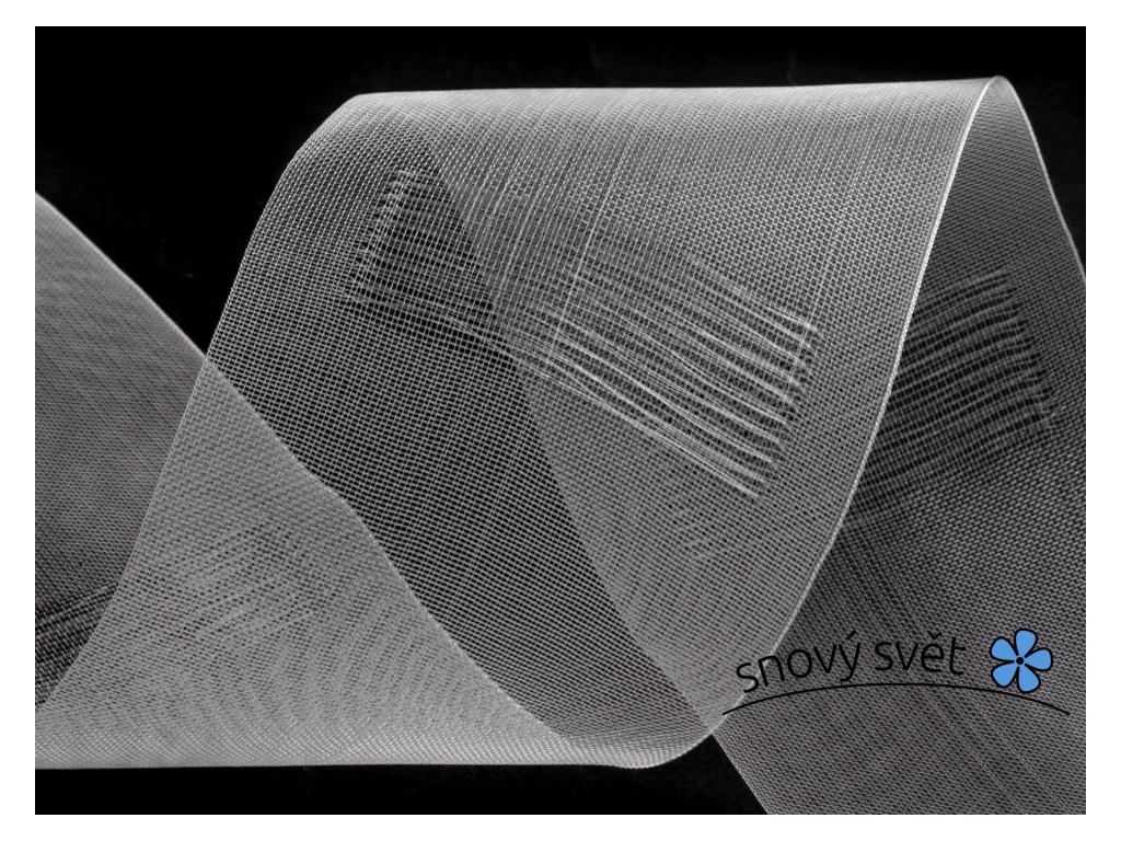 Záclonovka - na tyč, transparentní, 80 mm - VT0006