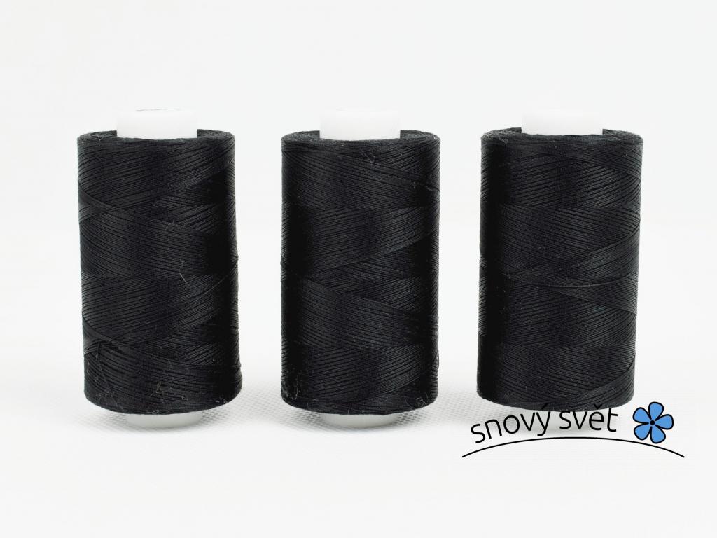 Bavlněná nit černá 1000 yeards - AP0004