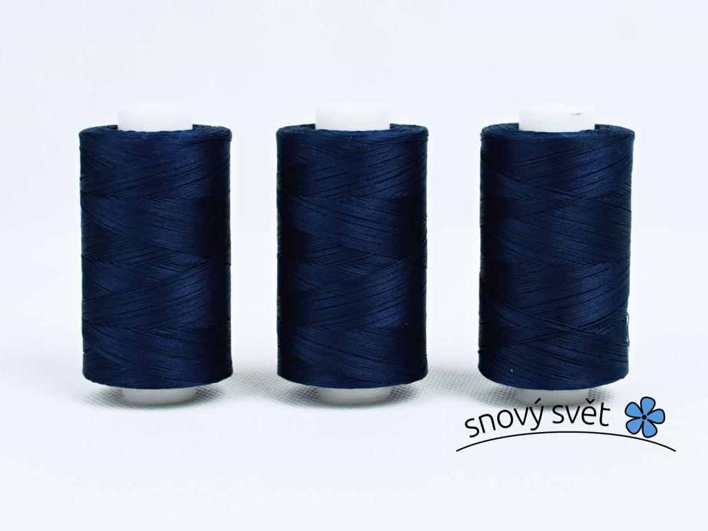 Bavlněná nit modrá (3852) 1000 yards - AP0005