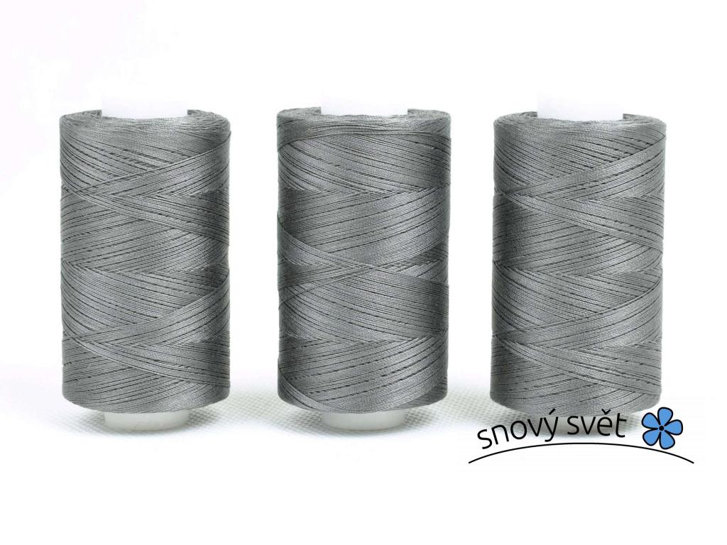 Bavlněná nit šedá (3037) 1000 yards - AP0012