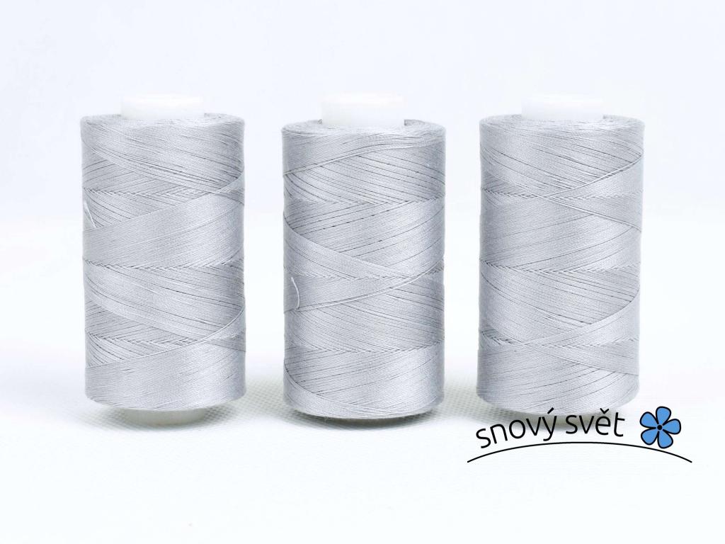 Bavlněná nit šedá (3002) 1000 yards - AP0016