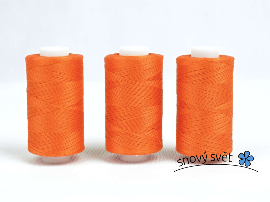 Bavlněná nit oranžová (3405) 1000 yards - AP0022