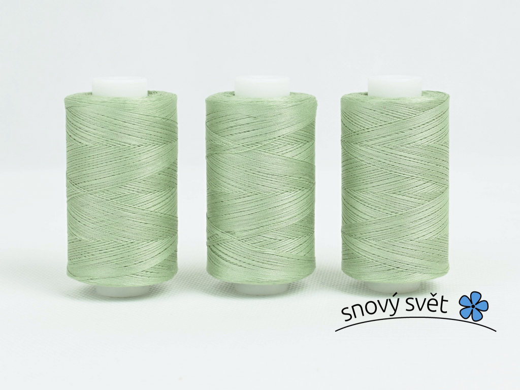 Bavlněná nit zelená (3717) 1000 yards - AP0025