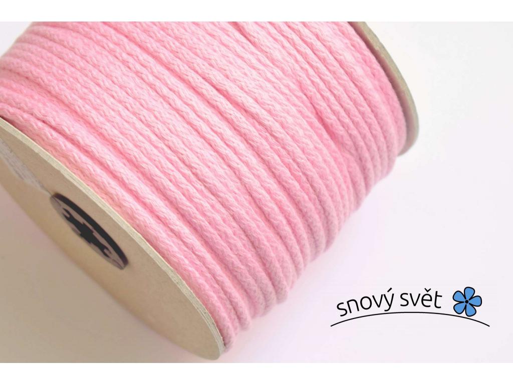 Bavlněná šňůra s jádrem - růžová - VM0005