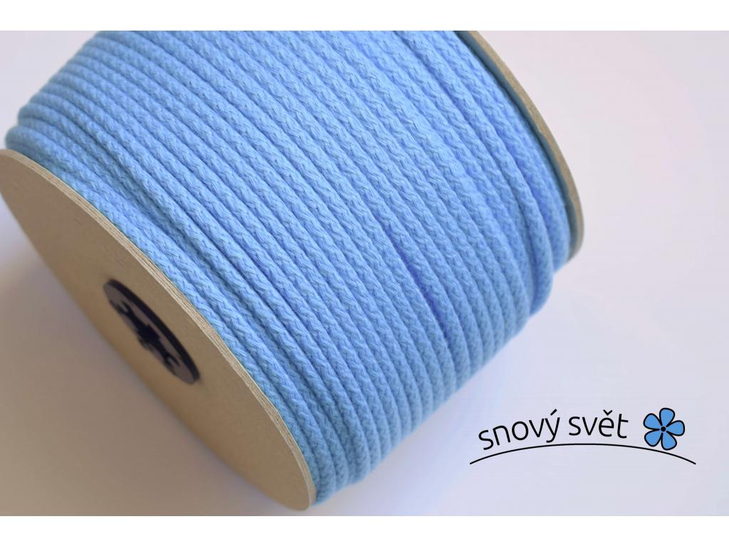 Bavlněná šňůra s jádrem - modrá (508) - VM0008