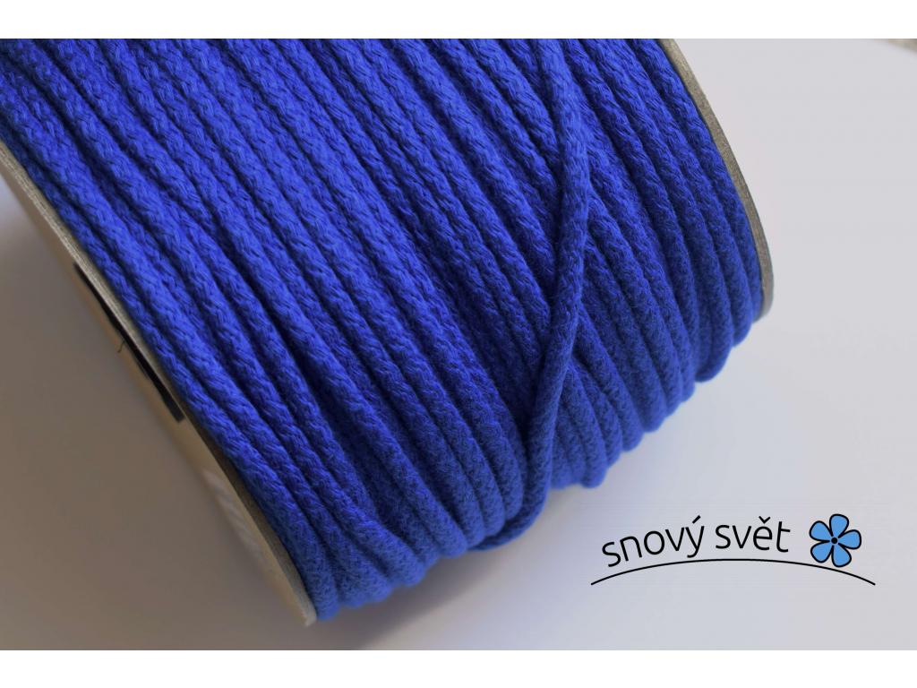 Bavlněná šňůra s jádrem - modrá (517) - VM0012