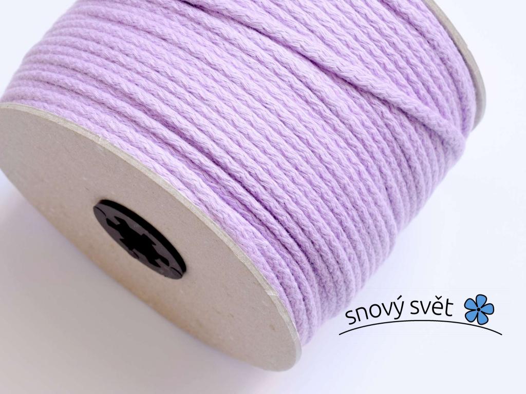 Bavlněná šňůra s jádrem - fialová - VM0013