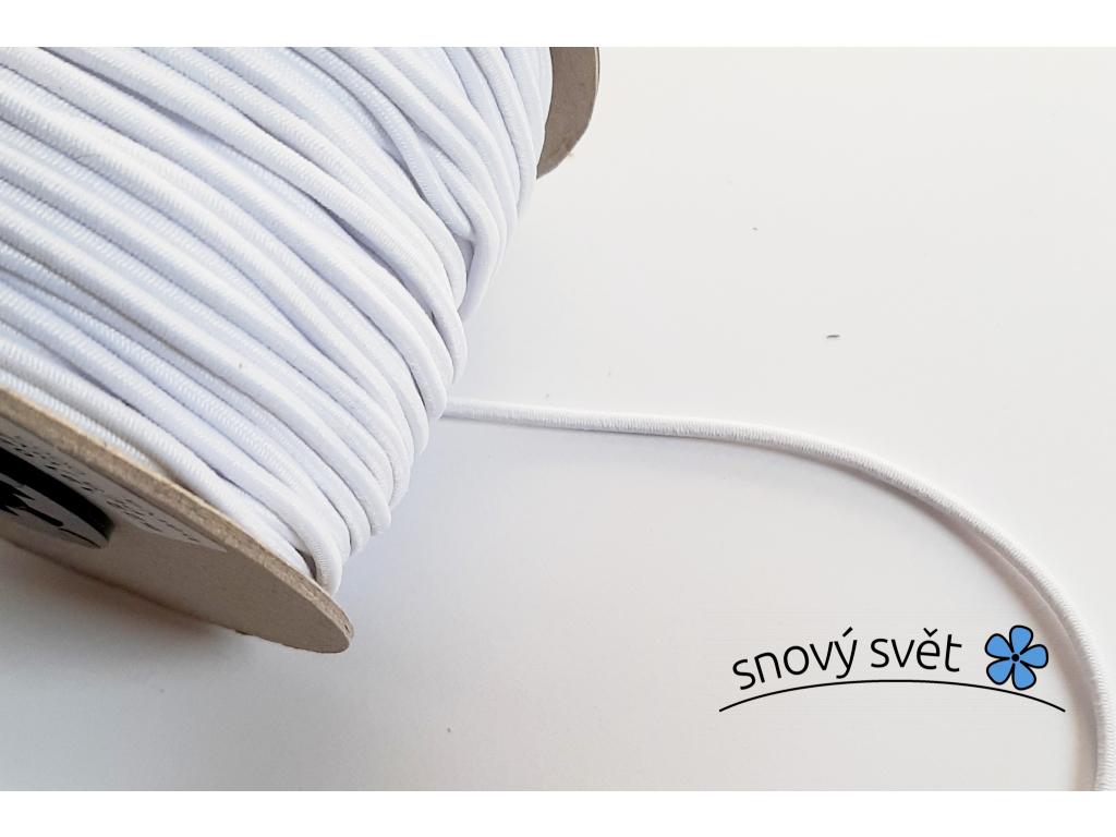 Pruženka 3 mm klobouková bílá - VM0017_01
