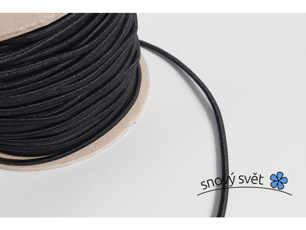 Pruženka 3 mm klobouková černá - VM0017_02