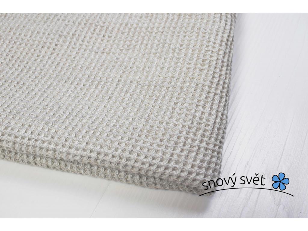 Lněný ručník vaflový melír - 50% len - LP0066