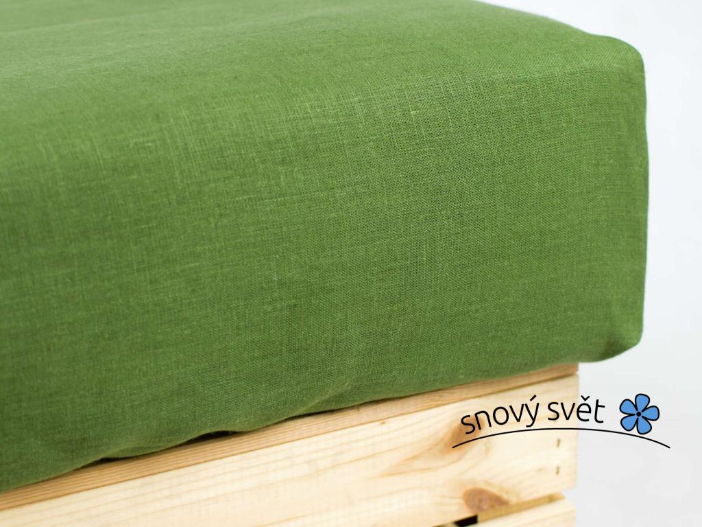 Daria zelená - prostěradlo na jednolůžko - SS0191_SV