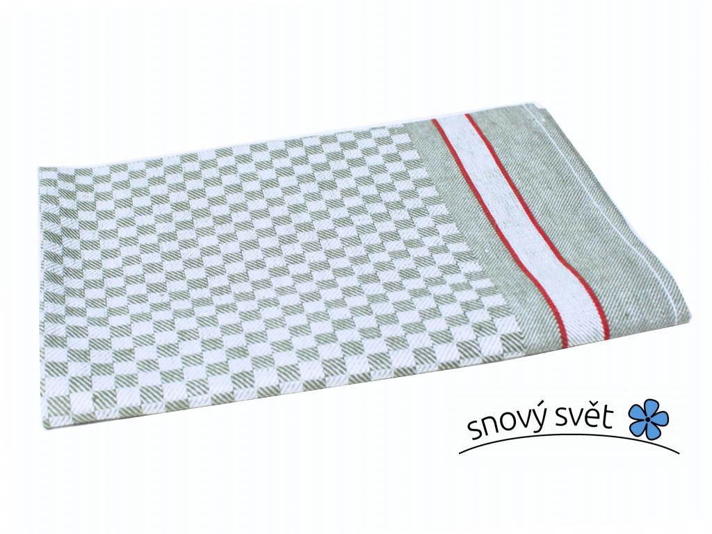 KARO stříbrná - lněná utěrka - LM0028_01