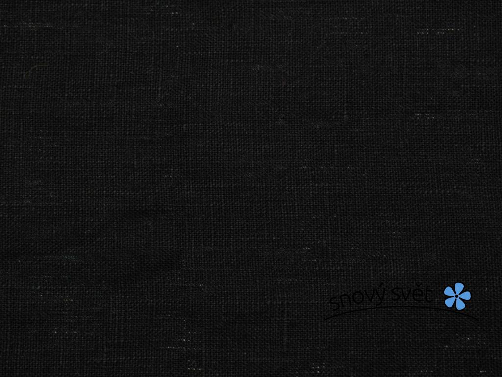 VZOREK - Lněná látka měkčená černá 245g/m2 - CNX028_01