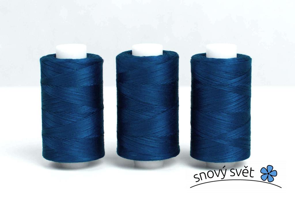 Bavlněná nit modrá (3874) 1000 yards - AP0026