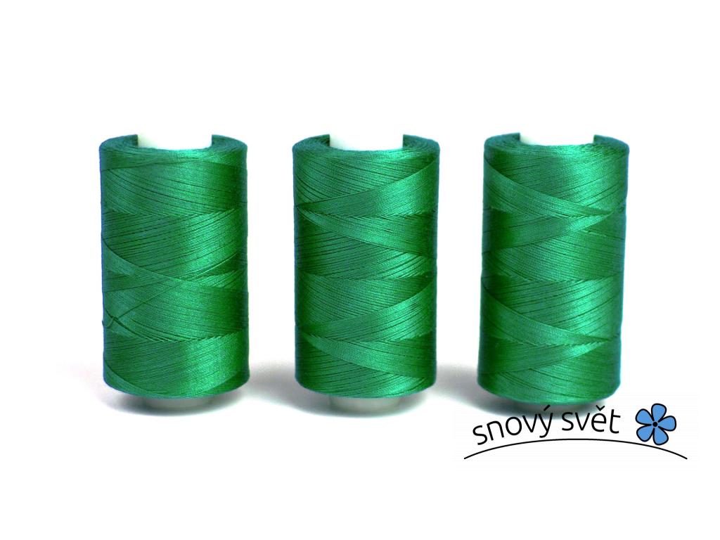 Bavlněná nit zelená (3764) 1000 yards - AP0027