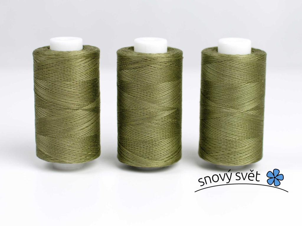 Bavlněná nit zelená khaki (3610) 1000 yards - AP0030