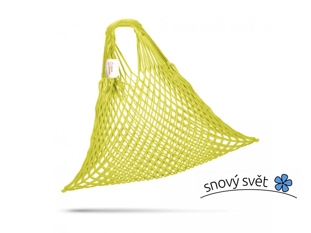 SÍŤOVÁ TAŠKA - BAVLNĚNÁ PRUŽNÁ - citronově žlutá - CS0016