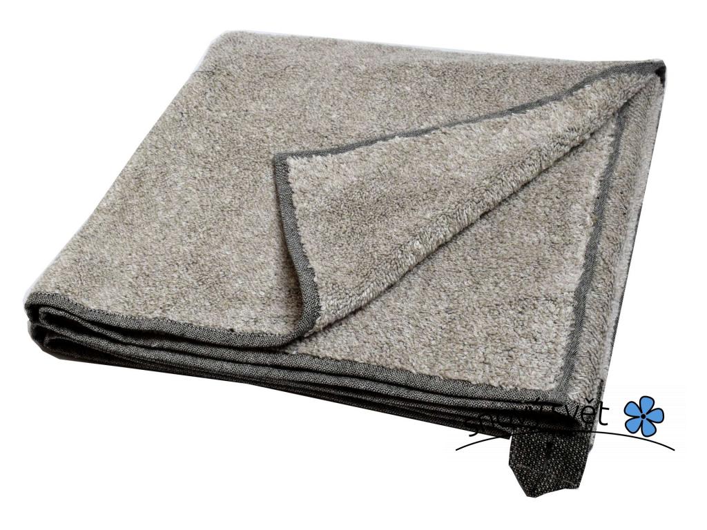 Lněný ručník měkký Tahini - LP0069