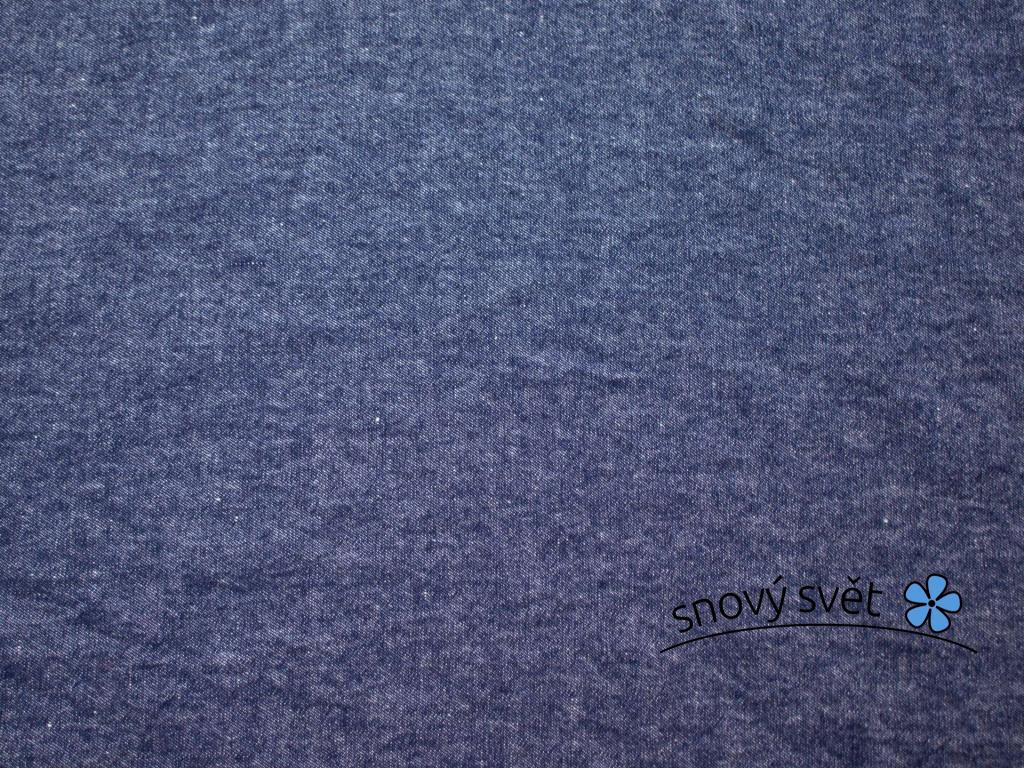 VZOREK - Merino modrá - lněná látka měkčená - LPX009_01