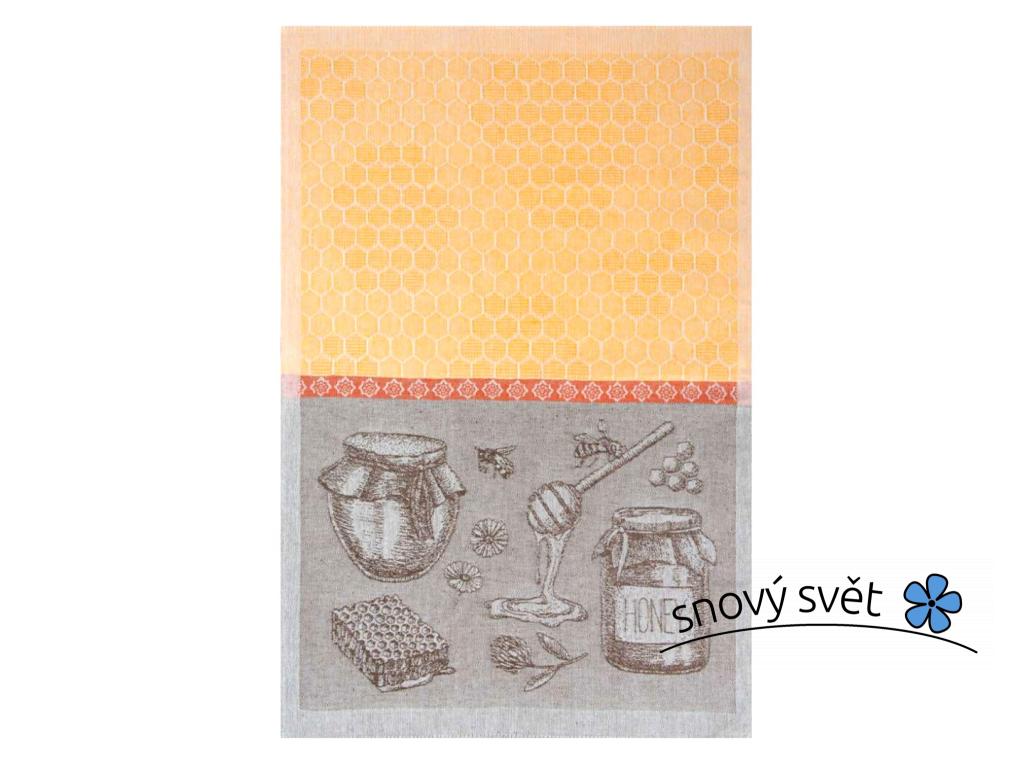Včelín I - lněná utěrka - BL0165