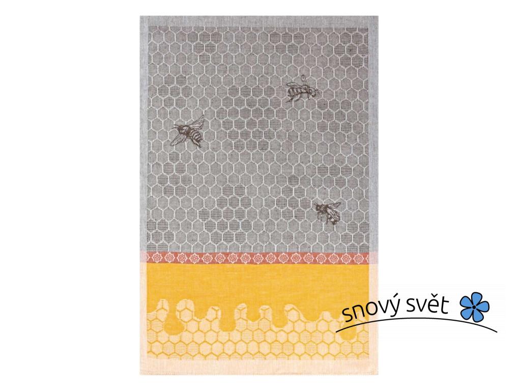 Včelín II - lněná utěrka - BL0166