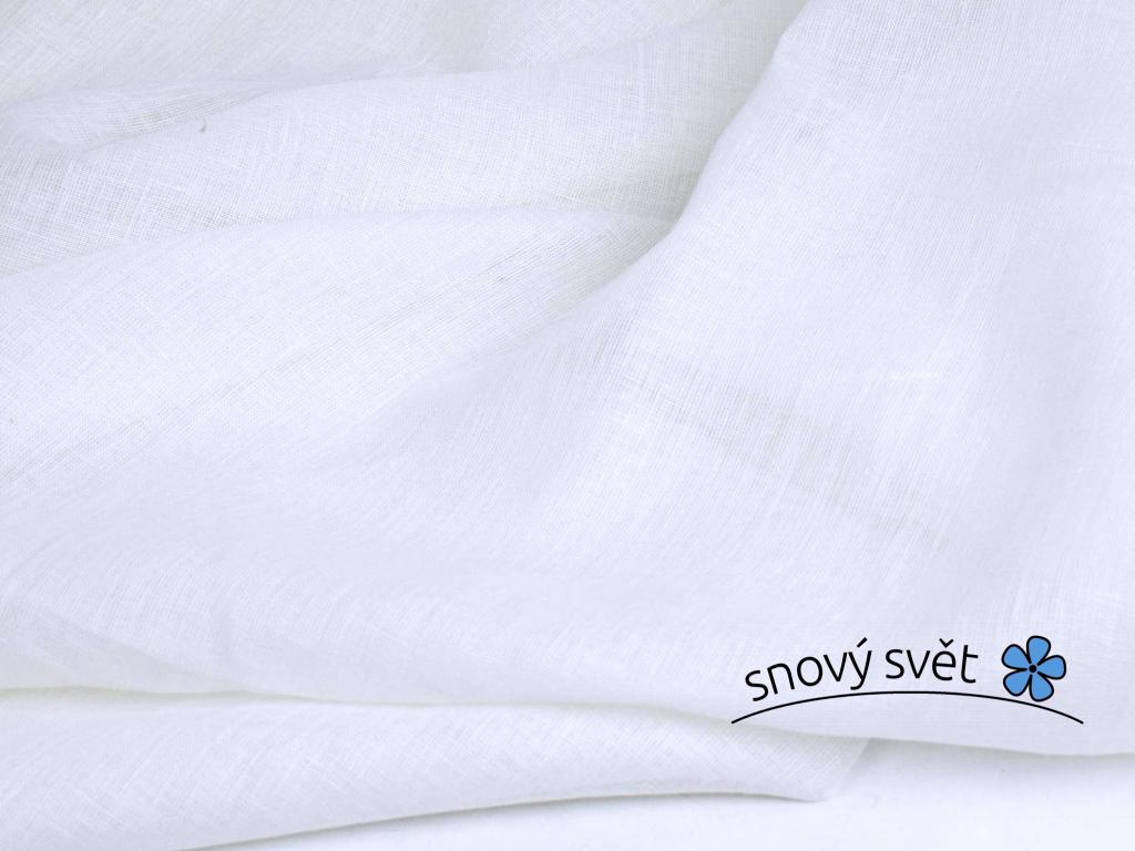 Bílá len záclonová 90g/m2 - 100% len - BLX062
