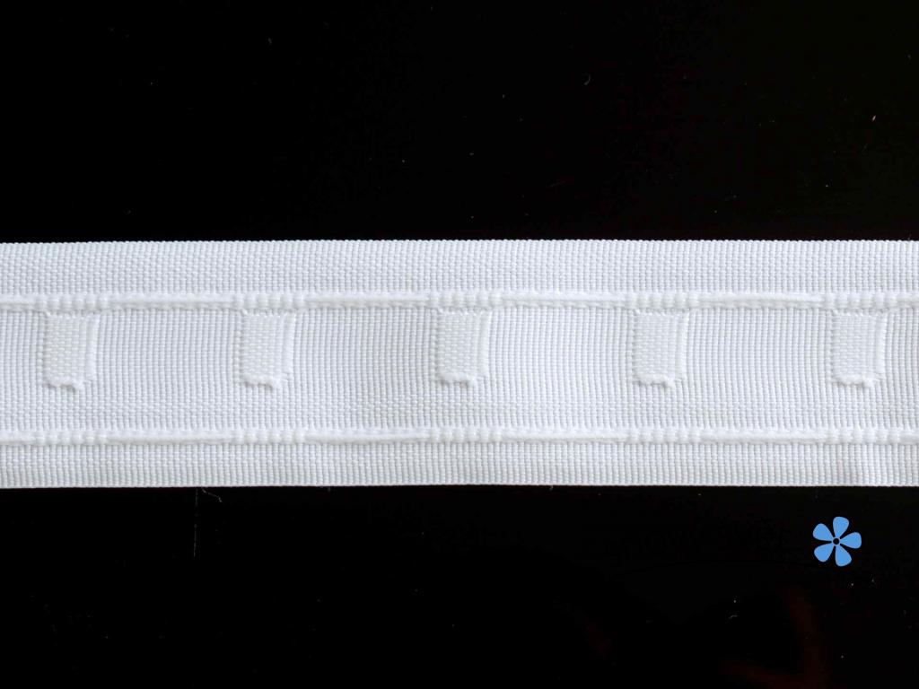 Záclonová páska - tužkové řasení, 40 mm - VT0038