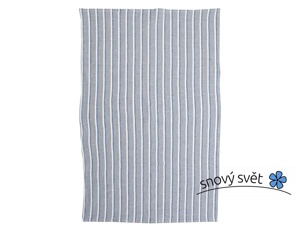 Oceán šedý - lněný ručník - LP0080_01