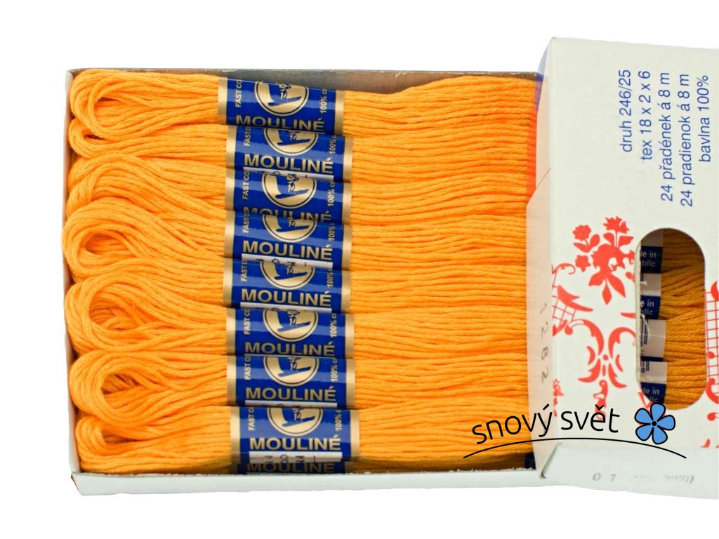 Bavlněná vyšívací příze Mouline pomeranč (1282) - CT0005