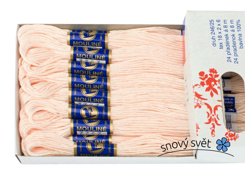 Bavlněná vyšívací příze Mouline růžovožlutá (2322) - CT0010