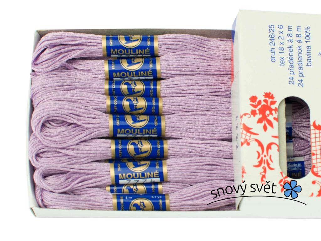 Bavlněná vyšívací příze Mouline bledě fialová (4222) - CT0026
