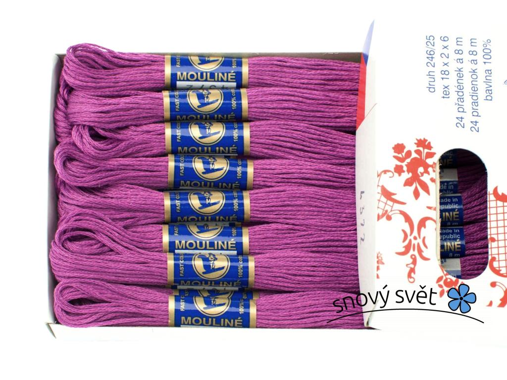 Bavlněná vyšívací příze Mouline fialová (4372) - CT0028